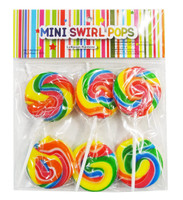 Mini Swirl Pops - Rainbow and more Confectionery at The Professors Online Lolly Shop. (Image Number :8893)