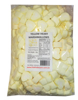 Sweet Treats Heart Shaped Marshmallows - Yellow and White, by Brisbane Bulk Supplies,  and more Confectionery at The Professors Online Lolly Shop. (Image Number :8199)