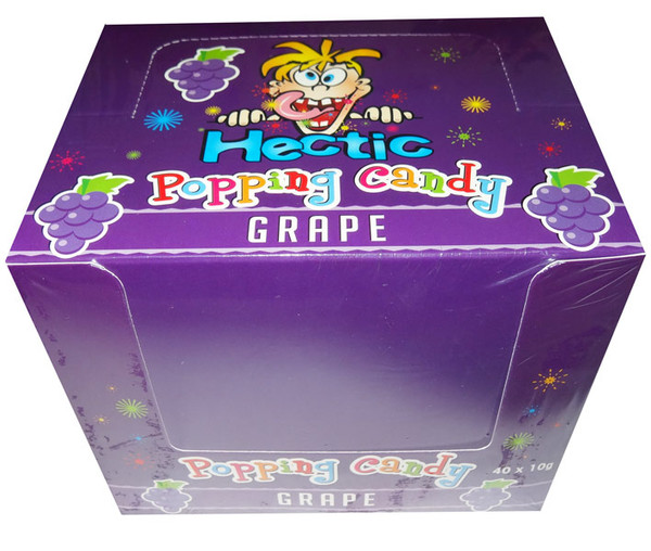 Hectic popping candy - Grape and more Confectionery at The Professors Online Lolly Shop. (Image Number :8180)