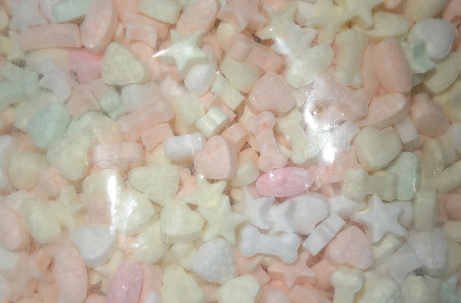Compressed Candy - Pastel Fizzy Fruits and more Confectionery at The Professors Online Lolly Shop. (Image Number :8156)