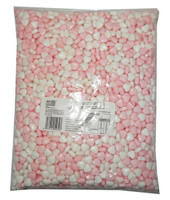 Compressed Candy - Pink and White Hearts, by AIT Confectionery,  and more Confectionery at The Professors Online Lolly Shop. (Image Number :8153)