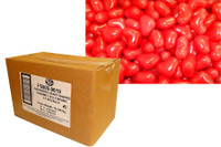 Love Heart Shaped Gourmet Jelly Beans - Red - Raspberry Flavoured (5kg Bulk)