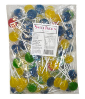 Sweet Treats Flat Pops - Assorted Colours (1kg bag - approx 125pc)