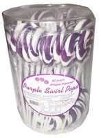 Swirl Pops - Purple, by Brisbane Bulk Supplies,  and more Confectionery at The Professors Online Lolly Shop. (Image Number :8143)