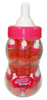Baby Bottle Jelly Beans - Pink - Single Colour Pink Jelly Beans, by Universal Candy,  and more Confectionery at The Professors Online Lolly Shop. (Image Number :8340)