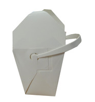 Medium Food Pails / Noodle Boxes with Cardboard Handles (473ml x 25 boxes)