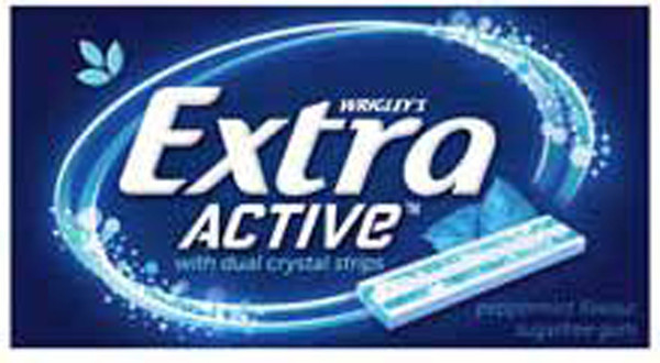 Extra Active - Peppermint Flavour, by Wrigley,  and more Confectionery at The Professors Online Lolly Shop. (Image Number :8469)