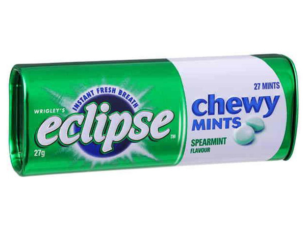 Eclipse Chewy Mint - Spearmint, by Wrigley,  and more Confectionery at The Professors Online Lolly Shop. (Image Number :8374)