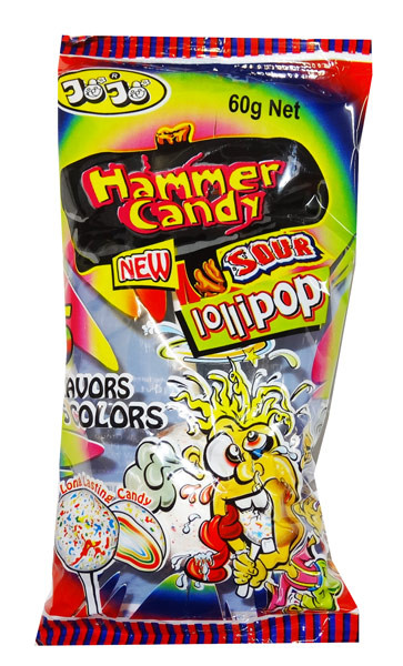 JoJo Sour Hammer Candy, by JoJo,  and more Confectionery at The Professors Online Lolly Shop. (Image Number :8398)