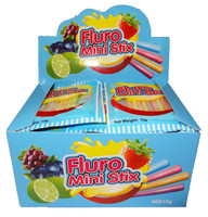 Fluro Mini Stix, by AIT Confectionery,  and more Confectionery at The Professors Online Lolly Shop. (Image Number :8382)