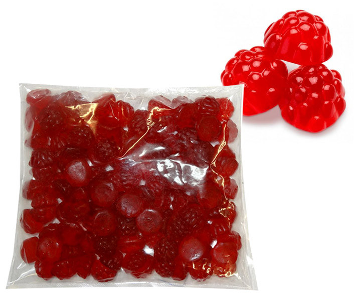 Gummi Berry - Red Raspberry, by Albanese Confectionery,  and more Confectionery at The Professors Online Lolly Shop. (Image Number :9675)