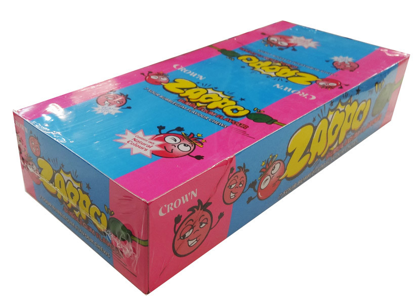 Zappo - Bubble Gum Chews, by Crown Confectionery,  and more Confectionery at The Professors Online Lolly Shop. (Image Number :8454)