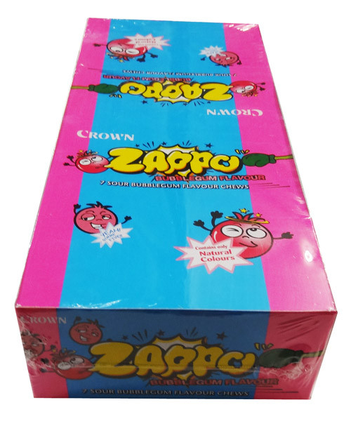 Zappo - Bubble Gum Chews, by Crown Confectionery,  and more Confectionery at The Professors Online Lolly Shop. (Image Number :8455)