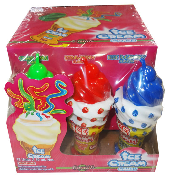 Cosmic Ice Cream Candy, by AllFect Distributors,  and more Confectionery at The Professors Online Lolly Shop. (Image Number :8517)