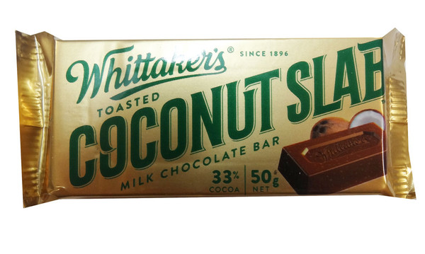 Whittakers Coconut Slab, by Whittakers,  and more Confectionery at The Professors Online Lolly Shop. (Image Number :8578)