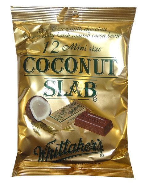 Whittakers Mini Coconut Slabs, by Whittakers,  and more Confectionery at The Professors Online Lolly Shop. (Image Number :8586)