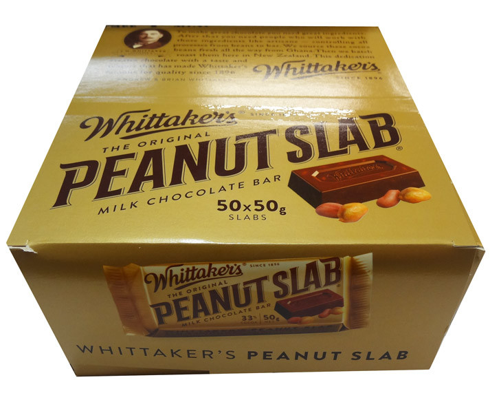 Whittakers Peanut Slab, by Whittakers,  and more Confectionery at The Professors Online Lolly Shop. (Image Number :8571)