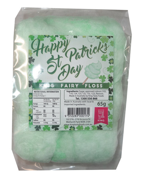 The Fairy Floss King - St Patrick s Day Special, by The Fairy Floss King,  and more Confectionery at The Professors Online Lolly Shop. (Image Number :8505)