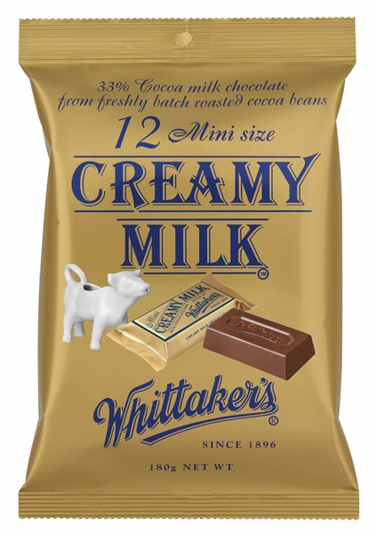 Whittakers Mini Creamy Milk Slabs, by Whittakers,  and more Confectionery at The Professors Online Lolly Shop. (Image Number :8514)