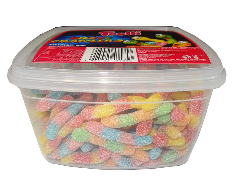 Trolli Brite Crawlers Tub, by Trolli,  and more Confectionery at The Professors Online Lolly Shop. (Image Number :8601)