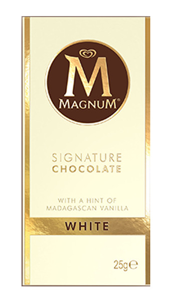 Magnum Mini Blocks - White Chocolate, by Magnum,  and more Confectionery at The Professors Online Lolly Shop. (Image Number :8555)