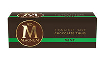 Magnum Thins - Mint Chocolate, by Magnum,  and more Confectionery at The Professors Online Lolly Shop. (Image Number :8551)