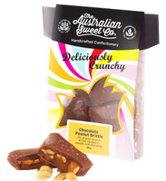 Gourmet Chocolate Peanut Brittle - Card Wrap, by The Australian Sweet Company,  and more Confectionery at The Professors Online Lolly Shop. (Image Number :8719)