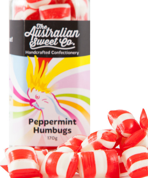 Peppermint Humbugs, by The Australian Sweet Company,  and more Confectionery at The Professors Online Lolly Shop. (Image Number :8761)