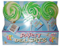 Lolly Mania Party Delights Lollipops - Green - Apple Flavour (24 x 85g)