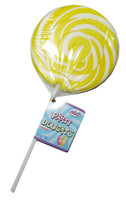 Lolly Mania Party Delights Lollipops - Yellow - Pineapple Flavour, by Lolly Mania/Other,  and more Confectionery at The Professors Online Lolly Shop. (Image Number :6052)