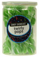 Candy Showcase Twirly Pops - Green and White, by Lolliland,  and more Confectionery at The Professors Online Lolly Shop. (Image Number :8966)
