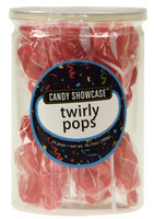 Candy Showcase Twirly Pops - Red and White, by Lolliland,  and more Confectionery at The Professors Online Lolly Shop. (Image Number :8965)