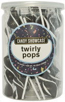 Candy Showcase Twirly Pops - Black and White, by Lolliland,  and more Confectionery at The Professors Online Lolly Shop. (Image Number :8964)