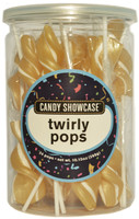Candy Showcase Twirly Pops - Gold and White, by Lolliland,  and more Confectionery at The Professors Online Lolly Shop. (Image Number :8963)