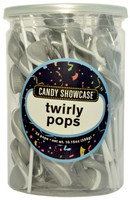 Candy Showcase Twirly Pops - Silver and White, by Lolliland,  and more Confectionery at The Professors Online Lolly Shop. (Image Number :8962)