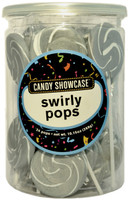 Candy Showcase Swirly Pops - Silver and White, by Lolliland,  and more Confectionery at The Professors Online Lolly Shop. (Image Number :8971)