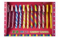Mixed colour candy canes, by Lolliland,  and more Confectionery at The Professors Online Lolly Shop. (Image Number :8879)