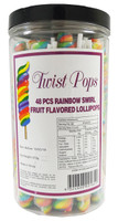 Twist Pops - Rainbow, by Brisbane Bulk Supplies,  and more Confectionery at The Professors Online Lolly Shop. (Image Number :8951)