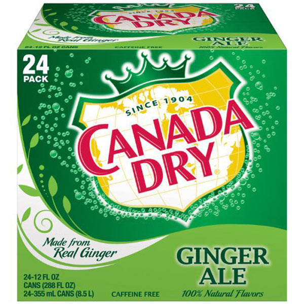 Canada Dry - Ginger Ale, by Dr Pepper,  and more Beverages at The Professors Online Lolly Shop. (Image Number :8956)