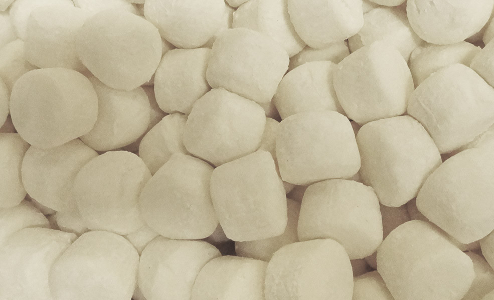 Pascall White Marshmallow Cylinders, by Pascall,  and more Confectionery at The Professors Online Lolly Shop. (Image Number :10042)