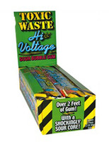 Toxic Waste Hi-Voltage Gum, by Candy Brokers,  and more Confectionery at The Professors Online Lolly Shop. (Image Number :9183)