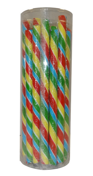 Candy Poles Jar - Rainbow, by Brisbane Bulk Supplies,  and more Confectionery at The Professors Online Lolly Shop. (Image Number :9049)