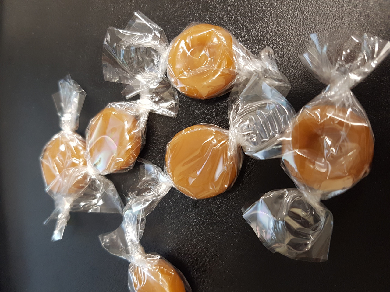 Butterscotch - Clear plastic wrap, by Double D Confectionery,  and more Confectionery at The Professors Online Lolly Shop. (Image Number :8990)