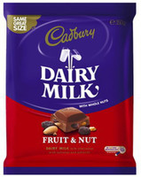 Cadbury Dairy Milk Large Fruit and Nut Blocks, by Cadbury,  and more Confectionery at The Professors Online Lolly Shop. (Image Number :9273)