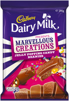 Cadbury Dairy Milk Marvellous Creations - Jelly Pop Candy Beanies (290g Block x 7pc box)