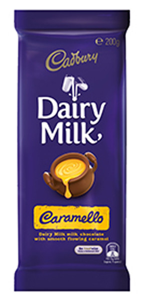 Cadbury Dairy Milk Caramello Family Blocks, by Cadbury,  and more Confectionery at The Professors Online Lolly Shop. (Image Number :9259)