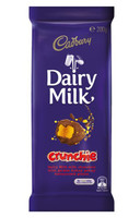 Cadbury Dairy Milk Crunchie Family Blocks, by Cadbury,  and more Confectionery at The Professors Online Lolly Shop. (Image Number :9260)