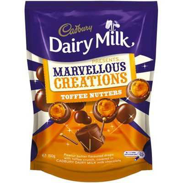 Cadbury Marvellous Creations - Toffee Nutters, by Cadbury,  and more Confectionery at The Professors Online Lolly Shop. (Image Number :9277)
