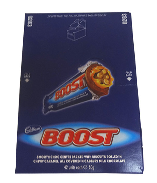 Cadbury Boost, by Cadbury,  and more Confectionery at The Professors Online Lolly Shop. (Image Number :9754)