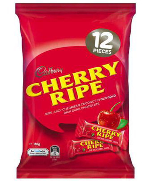 Cadbury Cherry Ripe Sharepack, by Cadbury,  and more Confectionery at The Professors Online Lolly Shop. (Image Number :9212)